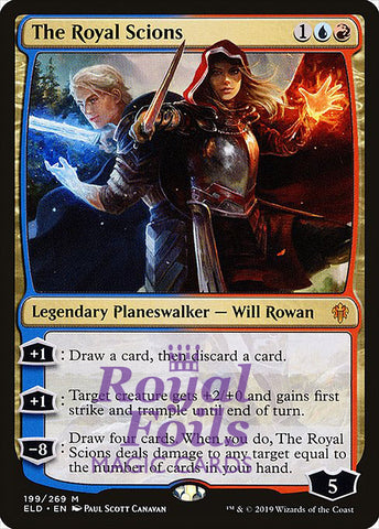 **1x FOIL The Royal Scions** ELD MTG Throne of Eldraine Mythic MINT blue red
