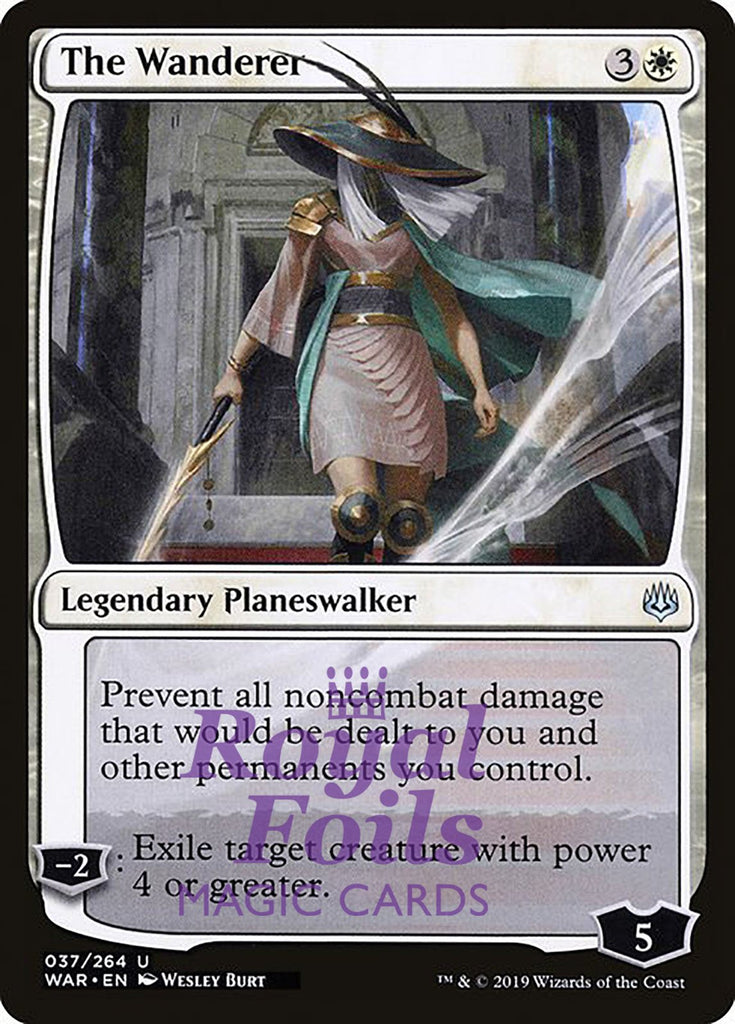 **1x FOIL The Wanderer** WAR MTG War of the Spark Uncommon MINT white