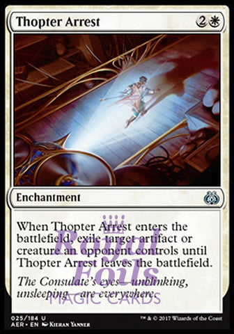 **2x FOIL Thopter Arrest** AER MTG Aether Revolt Uncommon MINT white