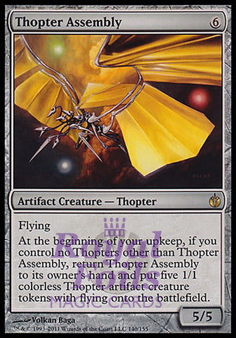 **1x FOIL Thopter Assembly** MBS MTG Mirrodin Besieged Rare MINT artifact