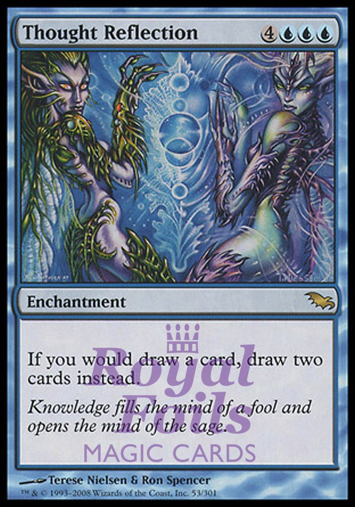 **1x FOIL Thought Reflection** SHM MTG Shadowmoor Rare MINT blue