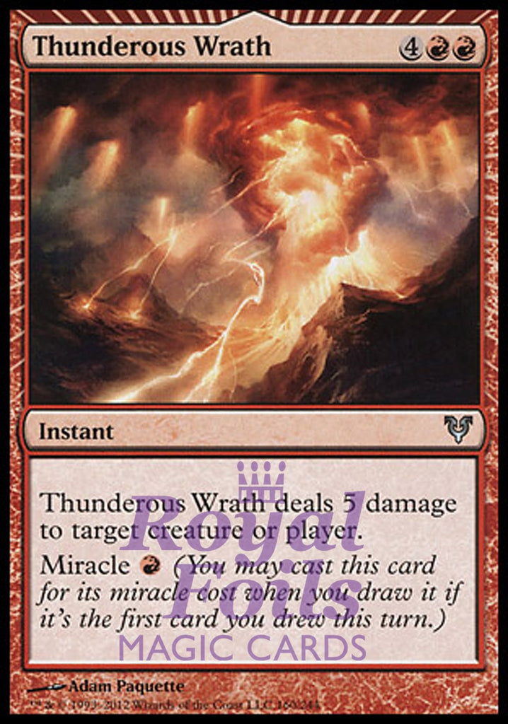**1x FOIL Thunderous Wrath** AVR MTG Avacyn Restored Uncommon MINT red
