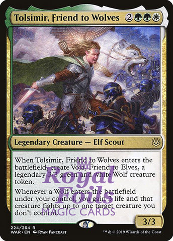 **1x FOIL Tolsimir, Friend to Wolves** WAR MTG War of the Spark Rare MINT green white