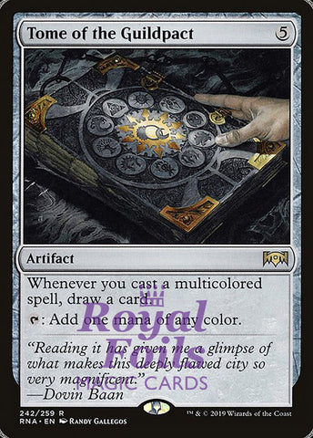 **1x FOIL Tome of the Guildpact** RNA MTG Ravnica Allegiance Rare MINT artifact