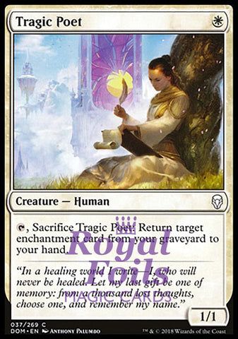 **4x FOIL Tragic Poet** DOM MTG Dominaria Common MINT white