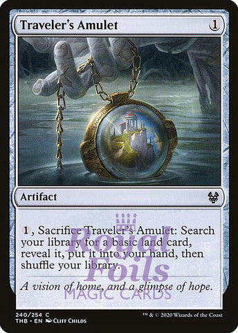 **4x FOIL Traveler's Amulet** THB MTG Theros Beyond Death Common MINT artifact