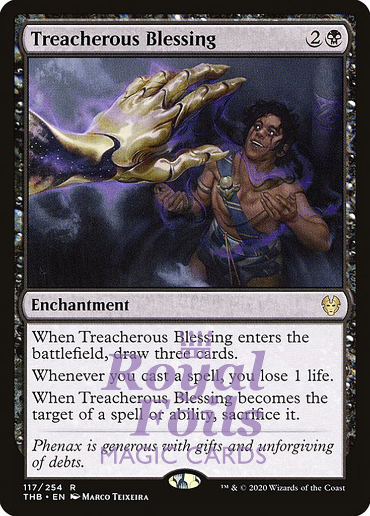 **2x FOIL Treacherous Blessing** THB MTG Theros Beyond Death Rare MINT black