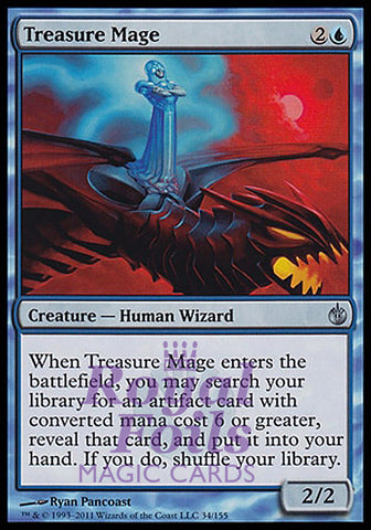 **1x FOIL Treasure Mage** MBS MTG Mirrodin Besieged Uncommon MINT blue