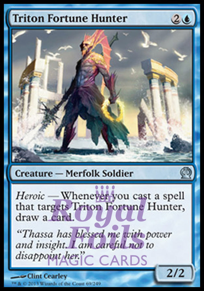 **4x FOIL Triton Fortune Hunter** THS MTG Theros Uncommon MINT blue