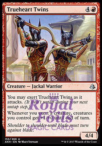 **4x FOIL Trueheart Twins** AKH MTG Amonkhet Uncommon MINT red