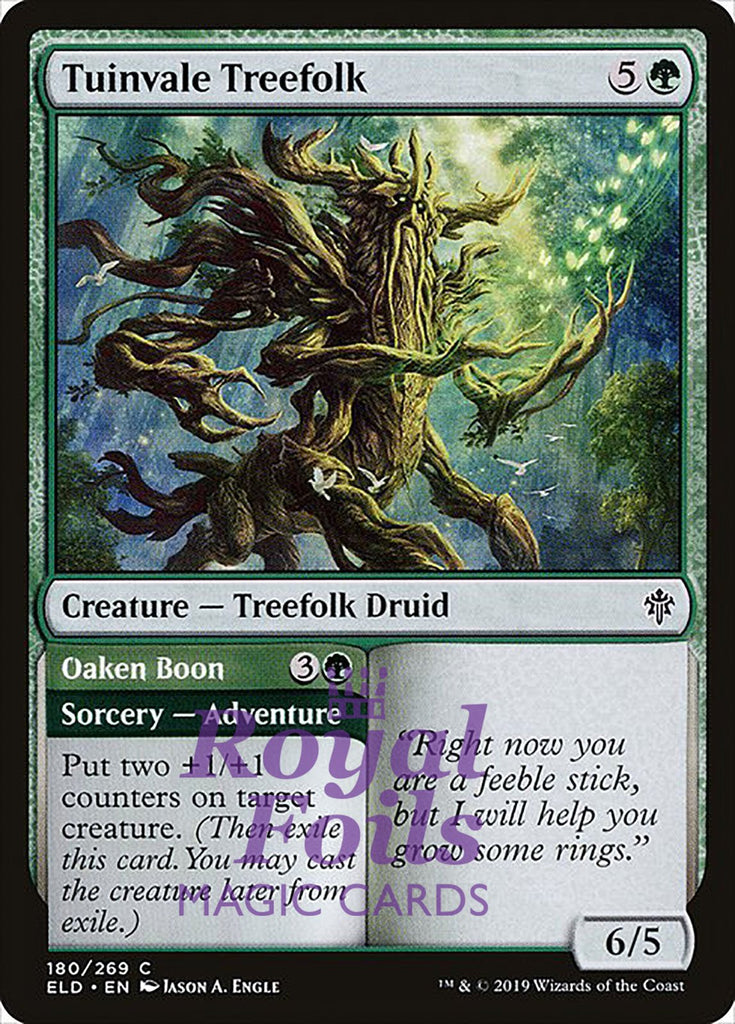 **3x FOIL Tuinvale Treefolk** ELD MTG Throne of Eldraine Common MINT green