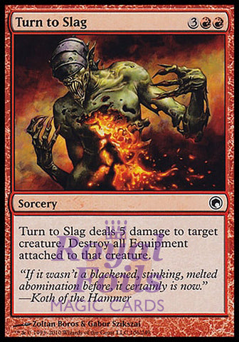 **4x FOIL Turn to Slag** SOM MTG Scars of Mirrodin Common MINT red