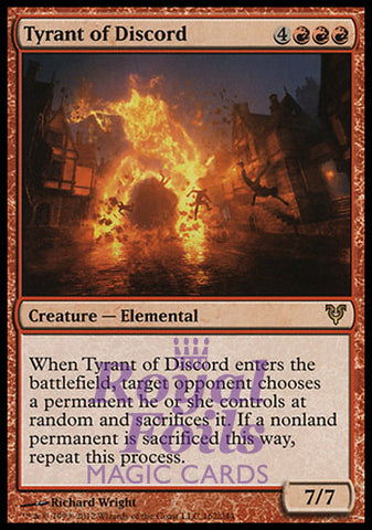 **1x FOIL Tyrant of Discord** AVR MTG Avacyn Restored Rare MINT red