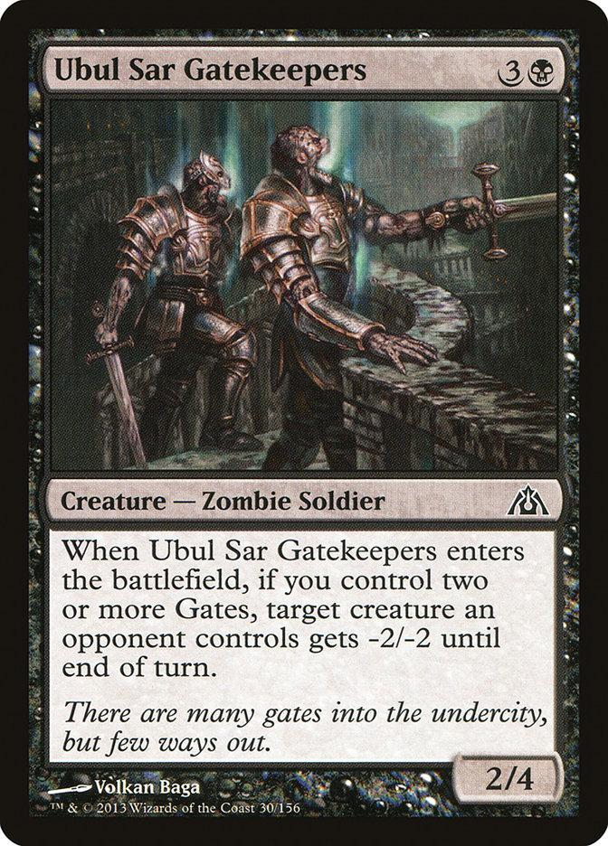 **4x FOIL Ubul Sar Gatekeepers** DGM MTG Dragon's Maze Common MINT black