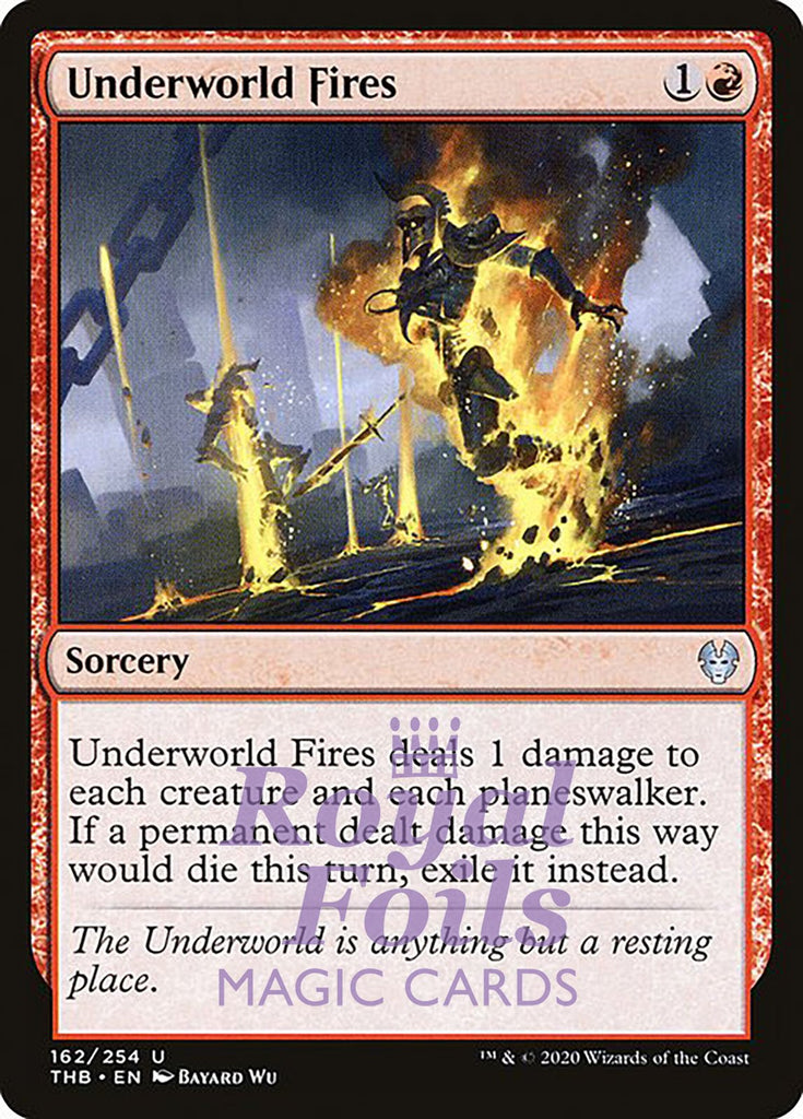 **4x FOIL Underworld Fires** THB MTG Theros Beyond Death Uncommon MINT red