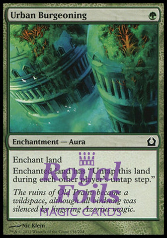 **4x FOIL Urban Burgeoning** RTR MTG Return to Ravnica Common MINT green