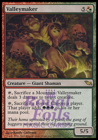 **2x FOIL Valleymaker** SHM MTG Shadowmoor Rare 1 MT 1 NM red green