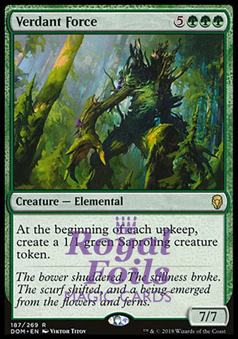 **1x FOIL Verdant Force** DOM MTG Dominaria Rare MINT green
