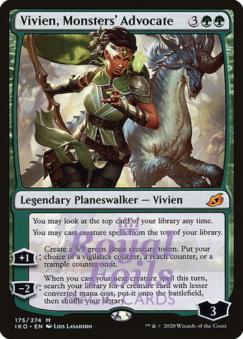 **1x FOIL Vivien, Monsters' Advocate** IKO MTG Ikoria Mythic MINT green
