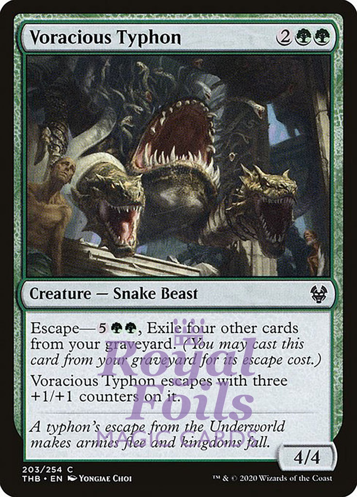 **4x FOIL Voracious Typhon** THB MTG Theros Beyond Death Common MINT green