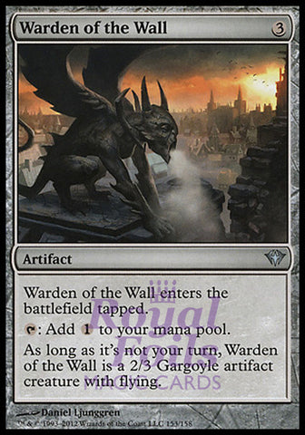 **4x FOIL Warden of the Wall** DKA MTG Dark Ascension Uncommon MINT artifact