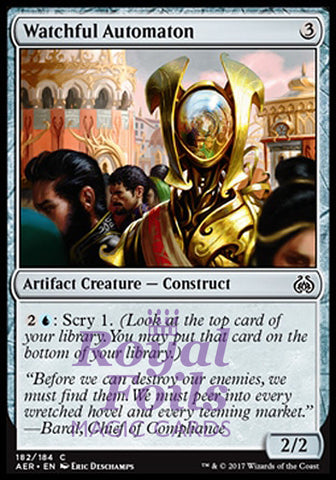 **4x FOIL Watchful Automaton** AER MTG Aether Revolt Common MINT artifact