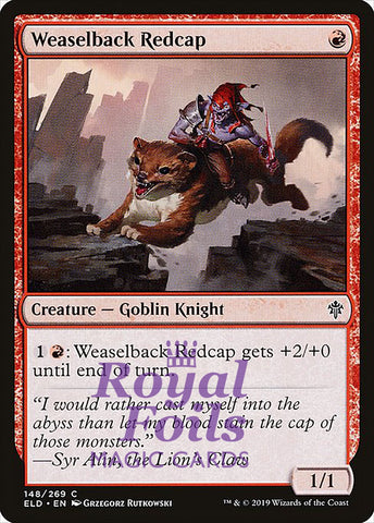 **4x FOIL Weaselback Redcap** ELD MTG Throne of Eldraine Common MINT red