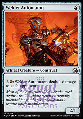 **4x FOIL Welder Automaton** AER MTG Aether Revolt Common MINT artifact