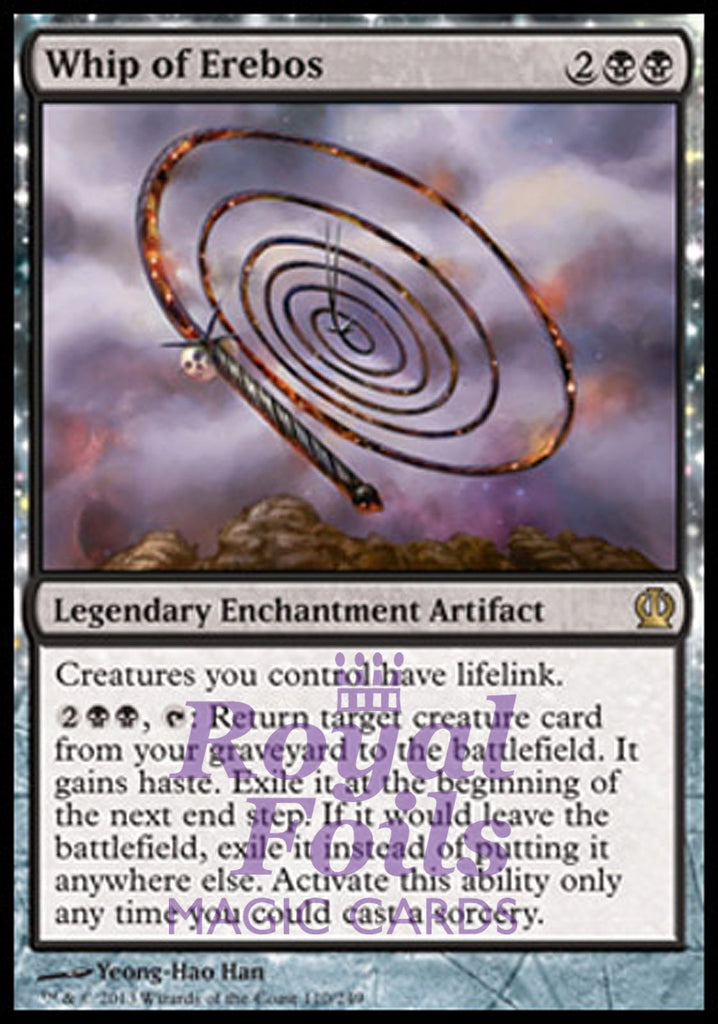 **1x FOIL Whip of Erebos** THS MTG Theros Rare MINT black
