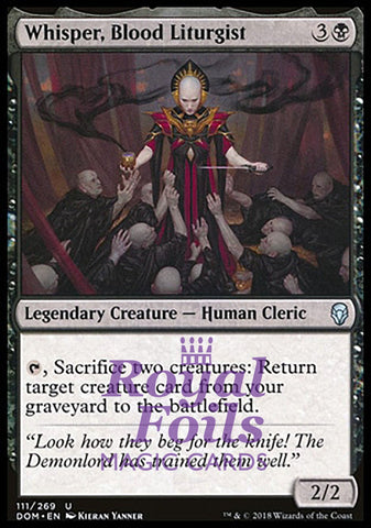 **1x FOIL Whisper, Blood Liturgist** DOM MTG Dominaria Uncommon MINT black