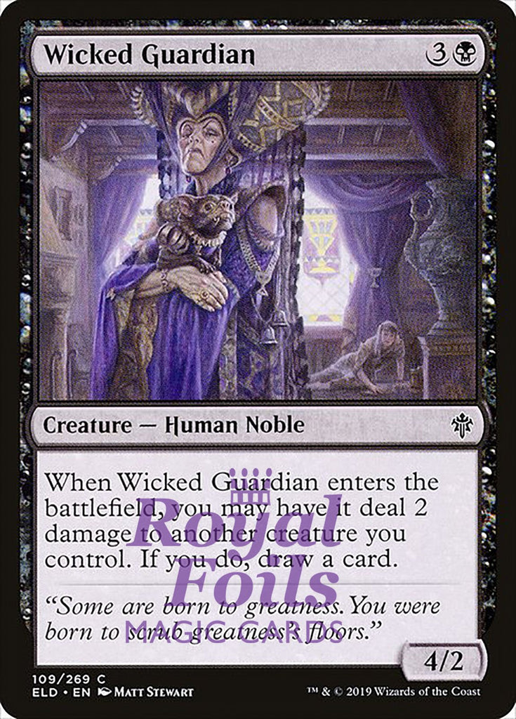 **4x FOIL Wicked Guardian** ELD MTG Throne of Eldraine Common MINT black