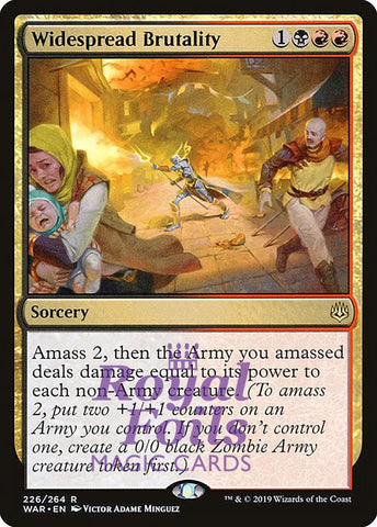 **1x FOIL Widespread Brutality** WAR MTG War of the Spark Rare MINT black red