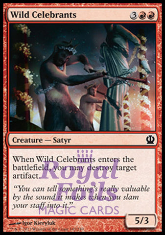 **4x FOIL Wild Celebrants** THS MTG Theros Common MINT red