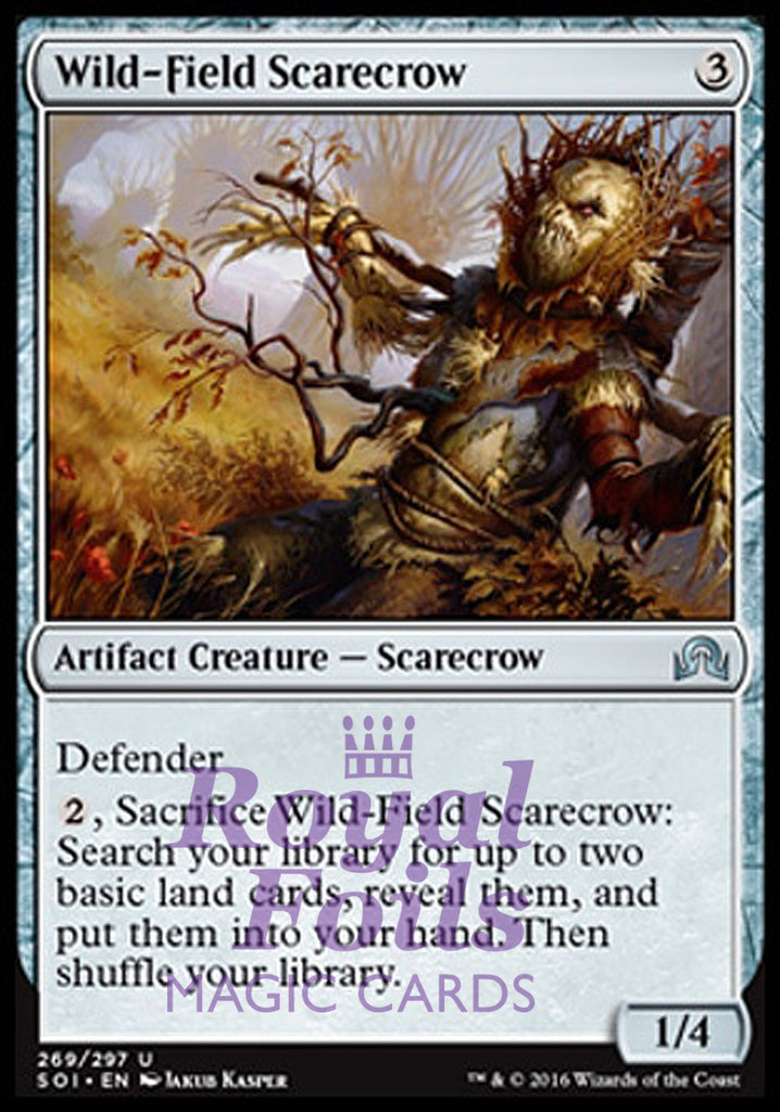 **2x FOIL Wild-Field Scarecrow** SOI MTG Shadows Over Innistrad Uncommon 1 MT 1 NM artifact