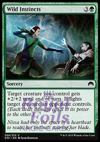**4x FOIL Wild Instincts** ORI MTG Magic Origins Common MINT green