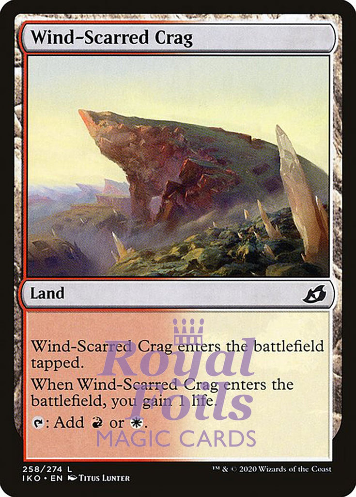 **4x FOIL Wind-Scarred Crag** IKO MTG Ikoria Common MINT red white