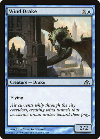 **4x FOIL Wind Drake** DGM MTG Dragon's Maze Common MINT blue