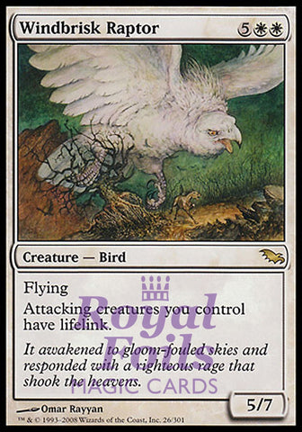 **1x FOIL Windbrisk Raptor** SHM MTG Shadowmoor Rare MINT white