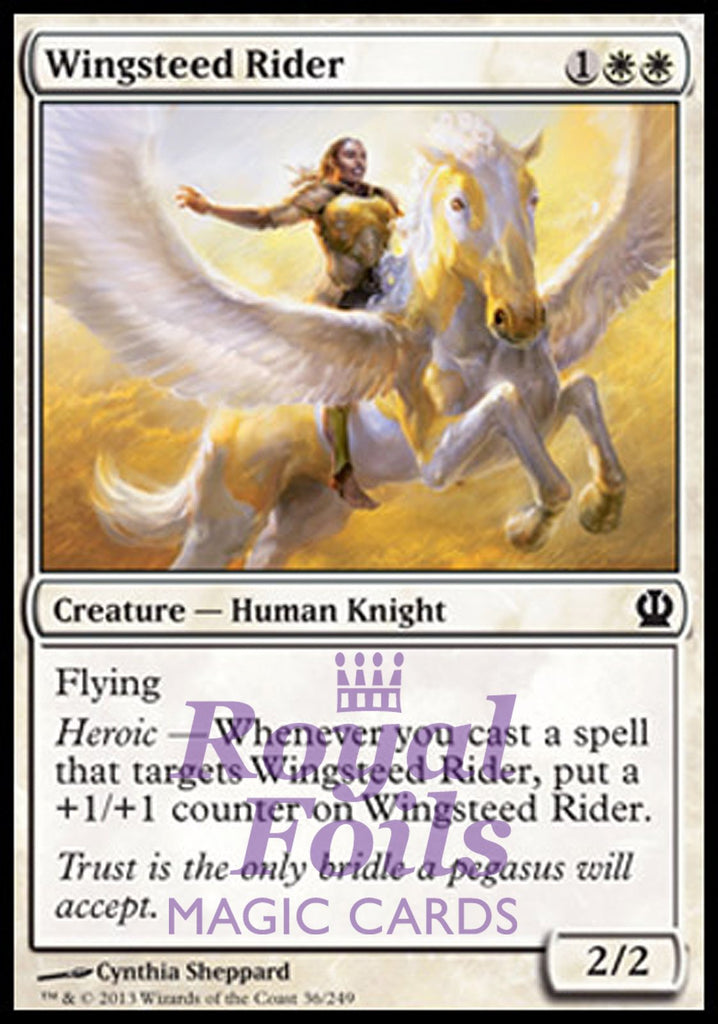 **4x FOIL Wingsteed Rider** THS MTG Theros Common MINT white