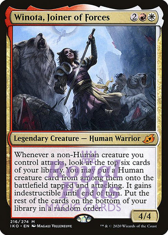 **1x FOIL Winota, Joiner of Forces** IKO MTG Ikoria Mythic MINT red white