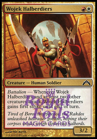 **4x FOIL Wojek Halberdiers** GTC MTG Gatecrash Common MINT red white