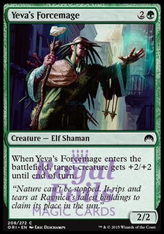 **4x FOIL Yeva's Forcemage** ORI MTG Magic Origins Common MINT green