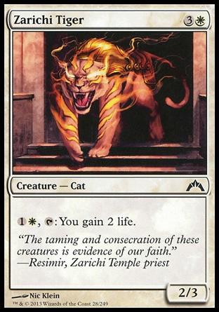 **4x FOIL Zarichi Tiger** GTC MTG Gatecrash Common MINT white