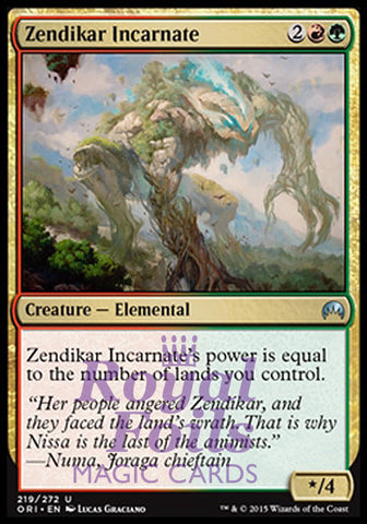**4x FOIL Zendikar Incarnate* ORI MTG Magic Origins Uncom MINT red green