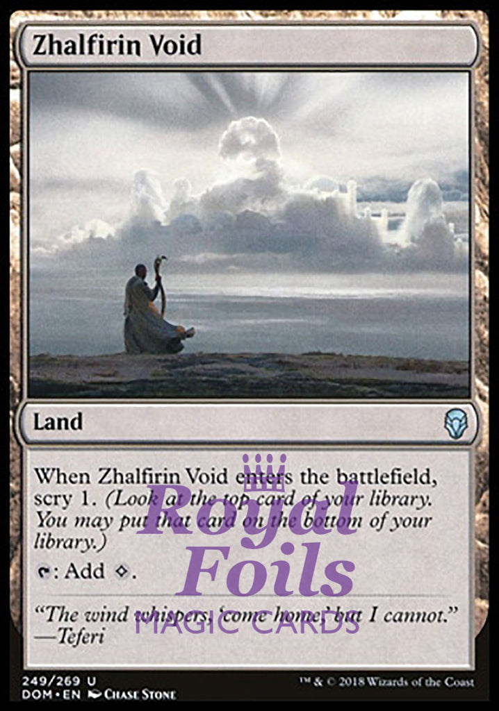 **1x FOIL Zhalfirin Void** DOM MTG Dominaria Uncommon NM land
