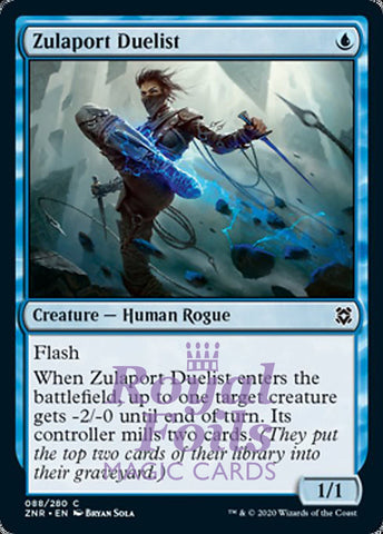 **4x FOIL Zulaport Duelist** ZNR MTG Zendikar Rising Common MINT blue