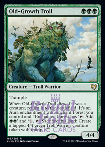 **2x FOIL Old-Growth Troll** KHM MTG Kaldheim Rare MINT green