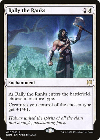 **2x FOIL Rally the Ranks** KHM MTG Kaldheim Rare MINT white