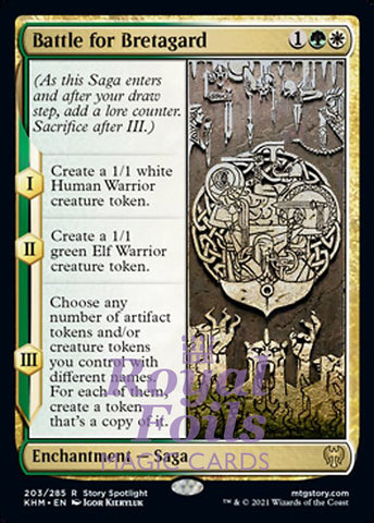 **2x FOIL Battle for Bretagard** KHM MTG Kaldheim Rare MINT green white