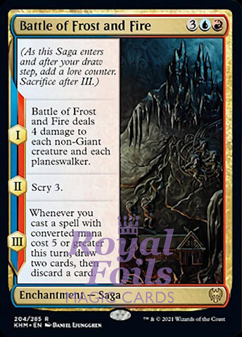 **2x FOIL Battle of Frost and Fire** KHM MTG Kaldheim Rare MINT blue red